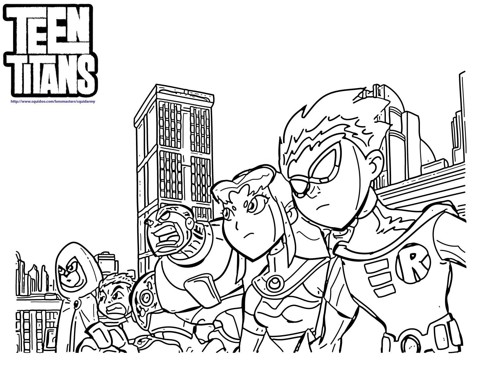 Coloriage Teen Titans À Imprimer Sur Coloriages concernant Coloriage Siborge ? Imprimer