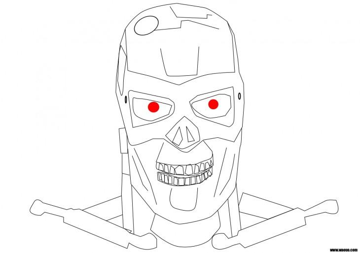Coloriage Terminator Robot Du Futur À Imprimer Et Colorier concernant Dessin ? Colorier Ciborg