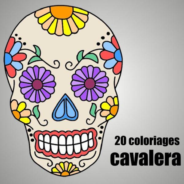 Coloriage Tête De Mort Mexicaine : 20 Dessins À Imprimer serapportantà Dessin Gommette A Imprimer