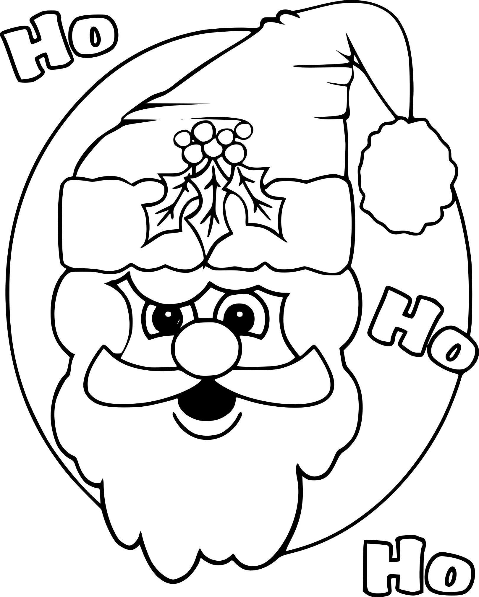 Coloriage Tete Du Pere Noel À Imprimer dedans Imprimer Dessin Pere Noel Gratuit
