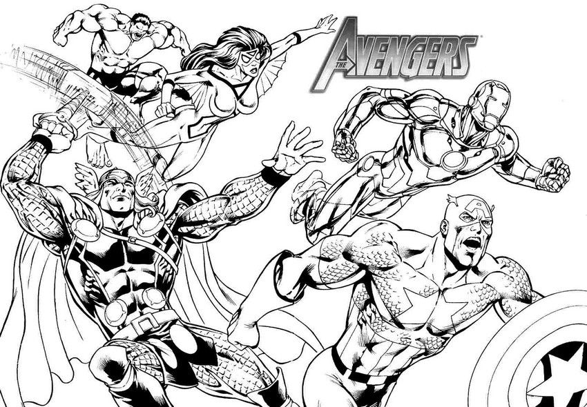 Coloriage The Avengers | Coloring: Movies/Tv | Coloriage intérieur Coloriage Avengers
