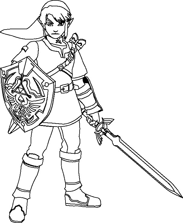 Coloriage The Legend Of Zelda Dessin Gratuit À Imprimer pour Coloriage Zelda Twilight Princess