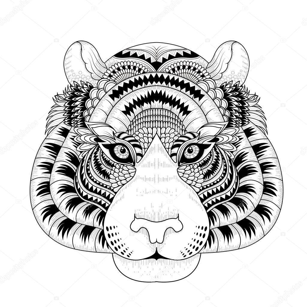 Coloriage Tigre Mandala: September 2014 avec Mandalas De Tigres