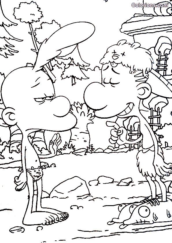 Coloriage Titeuf Dans La Forêt Dessin Gratuit À Imprimer concernant Dessin Forêt À Imprimer