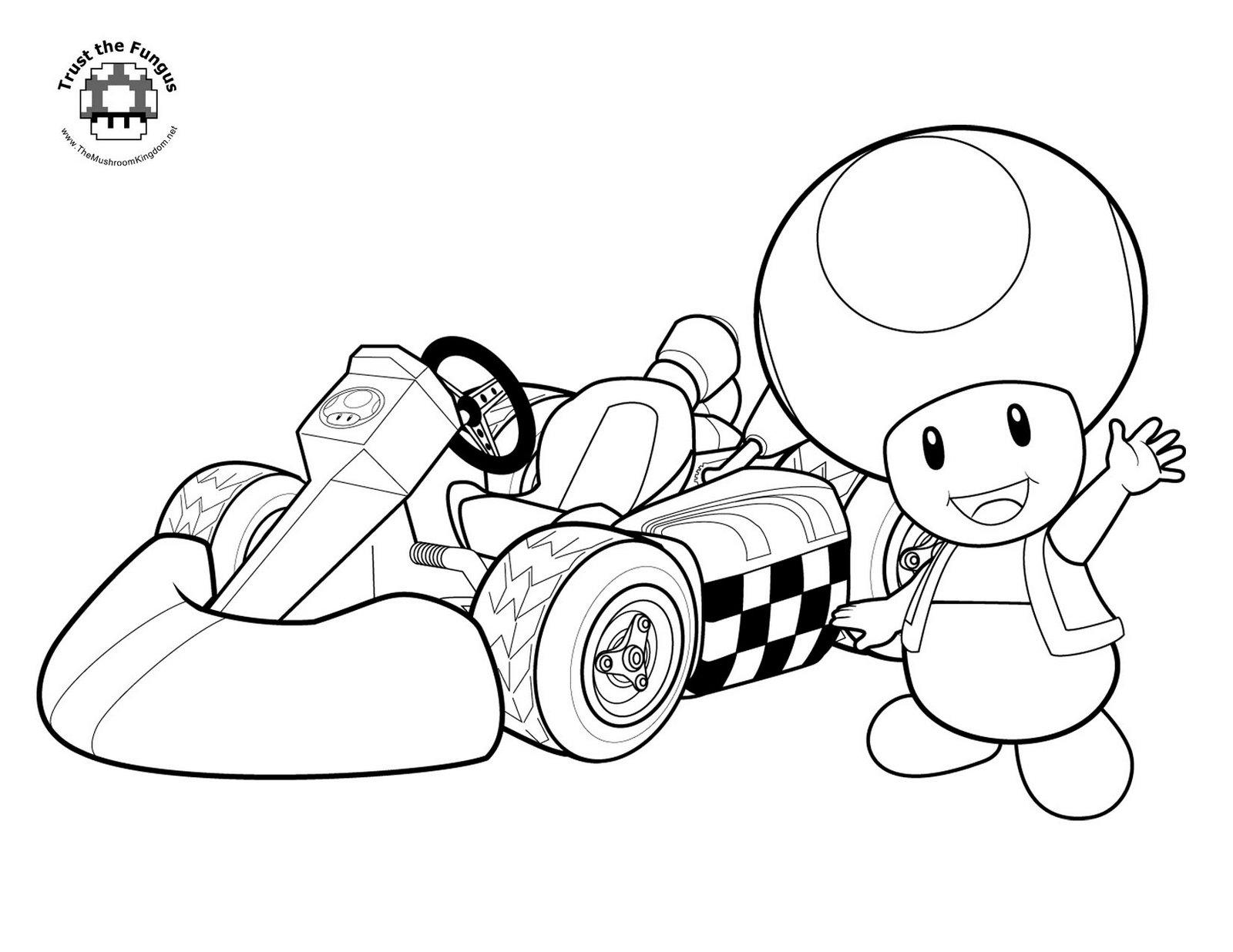 Coloriage Toad Mario Kart À Imprimer concernant Coloriage Mario Kart