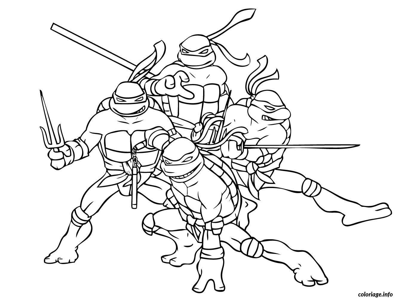 Coloriage Tortue Ninja 6 Dessin À Imprimer | Coloriage intérieur Coloriage Tortue Ninja A Imprimer Gratuit