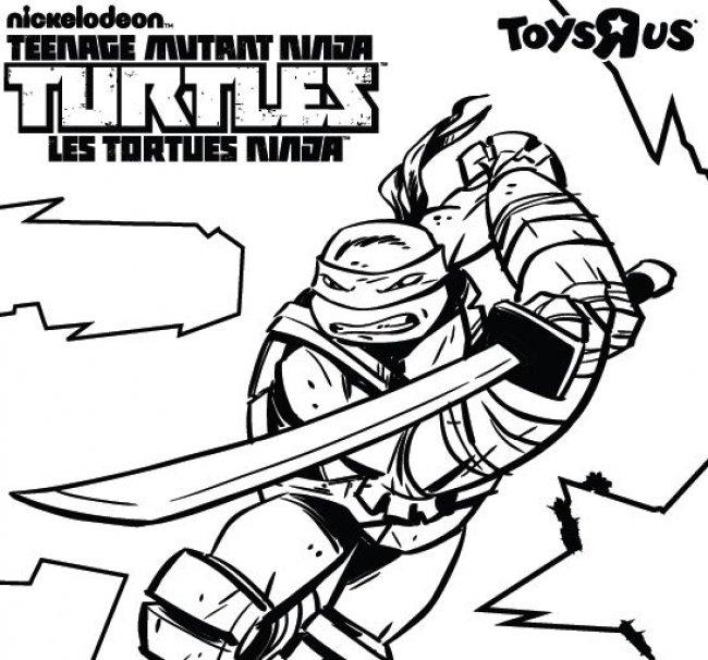 Coloriage Tortue Ninja À Imprimer Pour Les Enfants - Cp26070 intérieur Coloriage De Tortue À Imprimer
