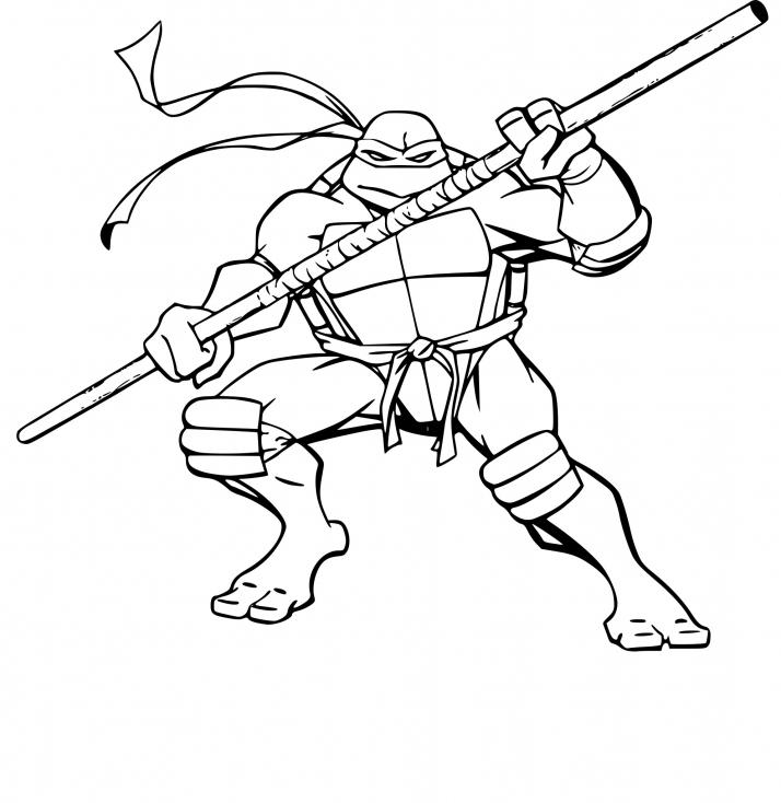 Coloriage Tortue Ninja Donatello À Imprimer Sur Coloriages destiné Coloriage Tortue Ninja À Imprimer