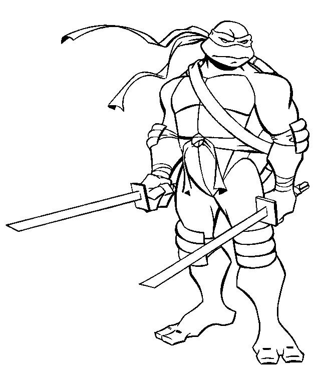 Coloriage Tortue Ninja Leonardo Dessin Gratuit À Imprimer concernant Coloriage Tortue A Imprimer Gratuit