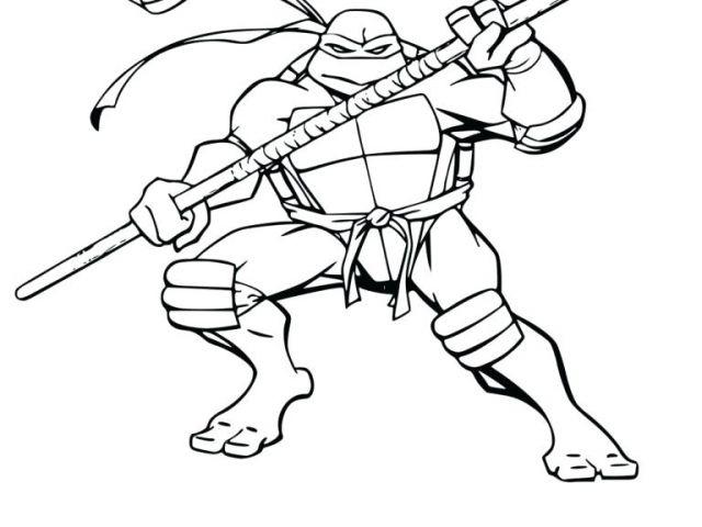 Coloriage Tortue Ninja Leonardo Tortue Ninja Coloriage avec Coloriage Tortue Ninja Michelangelo