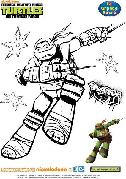 Coloriage Tortues Ninja À Colorier - Dessin À Imprimer serapportantà Coloriage Tortue Ninja À Imprimer