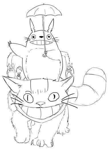 Coloriage Totoro Chat Bus | Danieguto pour Coloriage Totoro A Imprimer
