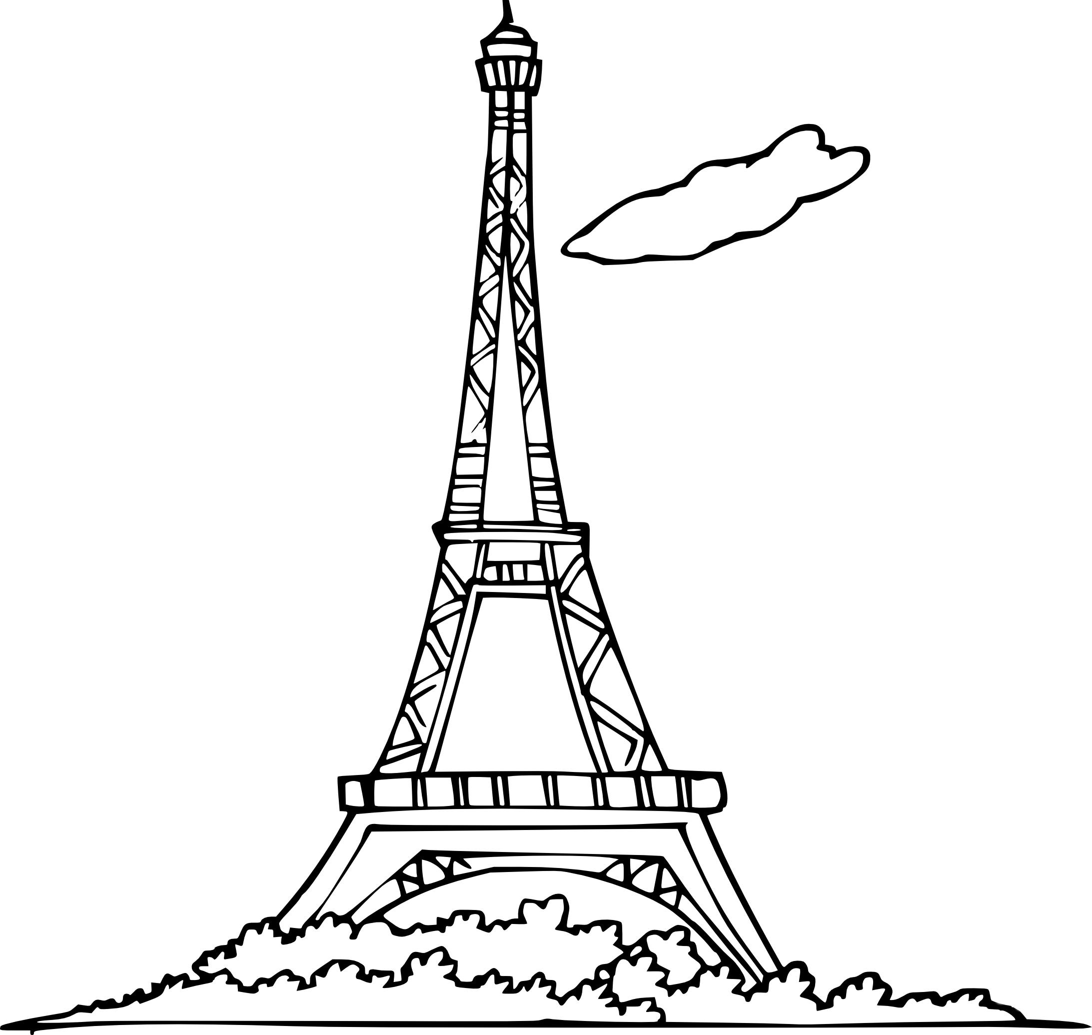 Coloriage Tour Eiffel À Imprimer | My Blog destiné Tour Effel Dessin