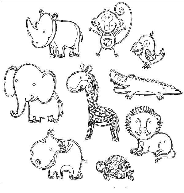 Coloriage Tous Les Animaux D'Afrique À Imprimer concernant Coloriage Animaux Afrique