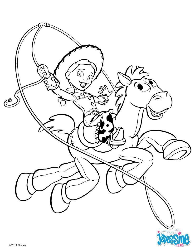 Coloriage : Toy Story 2 - Jessie Et Pile-Poil | Coloriage pour Coloriage Toy Story 4