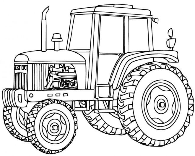 Coloriage Tracteur À Découper Dessin Gratuit À Imprimer intérieur Dessin De Tracteur A Colorier