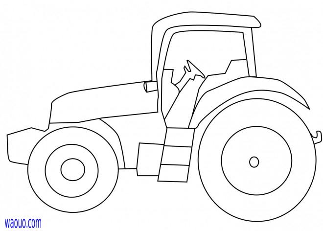 Coloriage Tracteur Facilement Dessiné Dessin Gratuit À intérieur Dessin De Tracteur A Colorier
