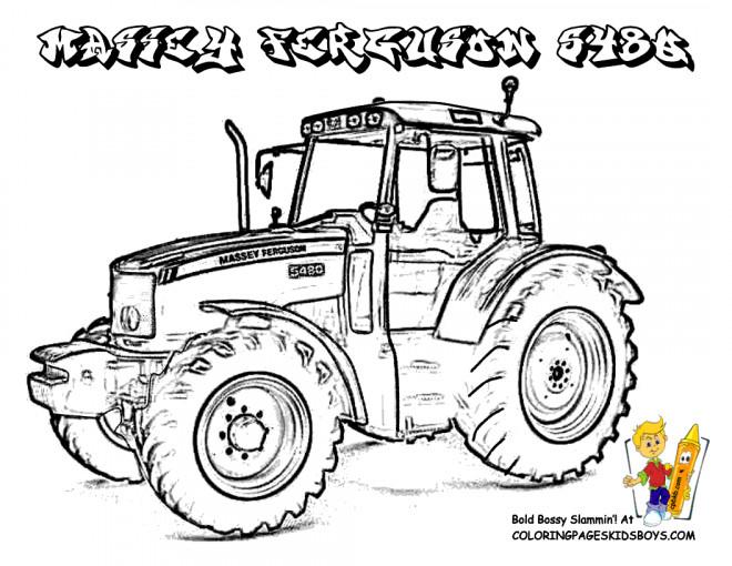 Coloriage Tracteur Massey Ferguson Dessin Gratuit À Imprimer intérieur Coloriage De Tracteur À Imprimer