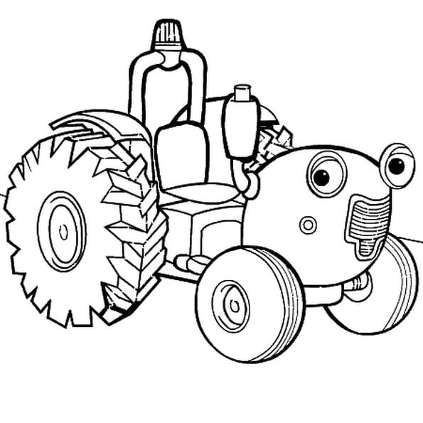 Coloriage Tracteur Tom En Ligne Gratuit À Imprimer serapportantà Tracteur A Colorier