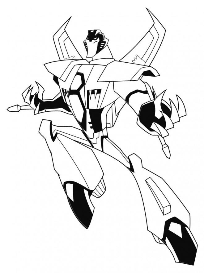 Coloriage Transformers À Colorier Dessin Gratuit À Imprimer destiné Dessin De Transformers