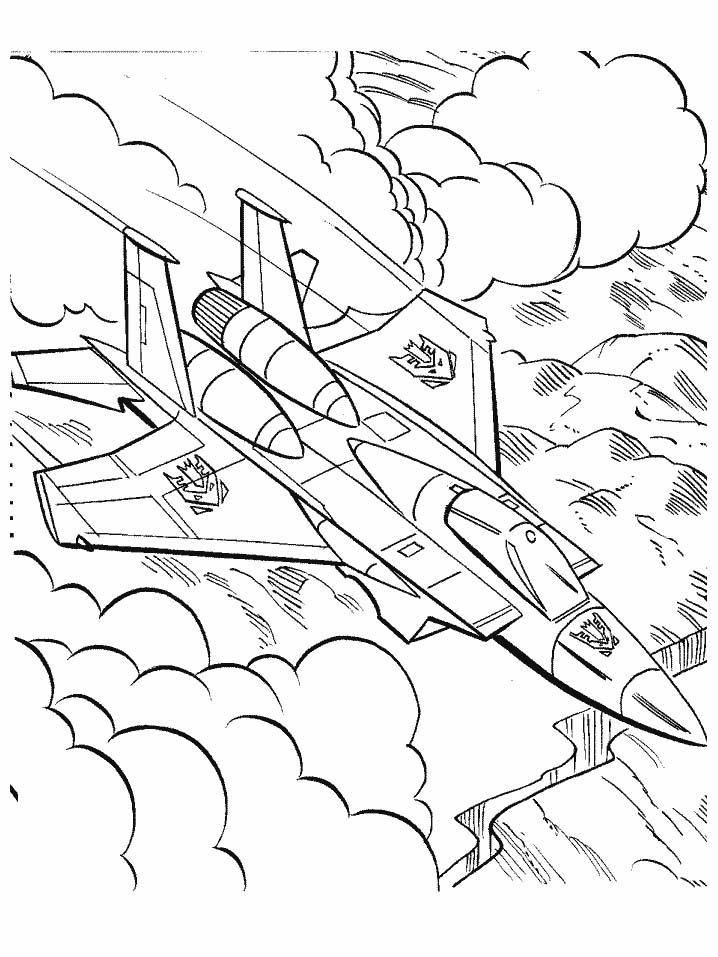 Coloriage Transformers Avion De Chasse serapportantà Dessin Avion De Chasse