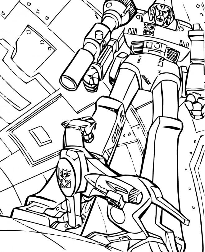 Coloriage Transformers Robot Dessin Gratuit À Imprimer encequiconcerne Dessin Robot À Imprimer