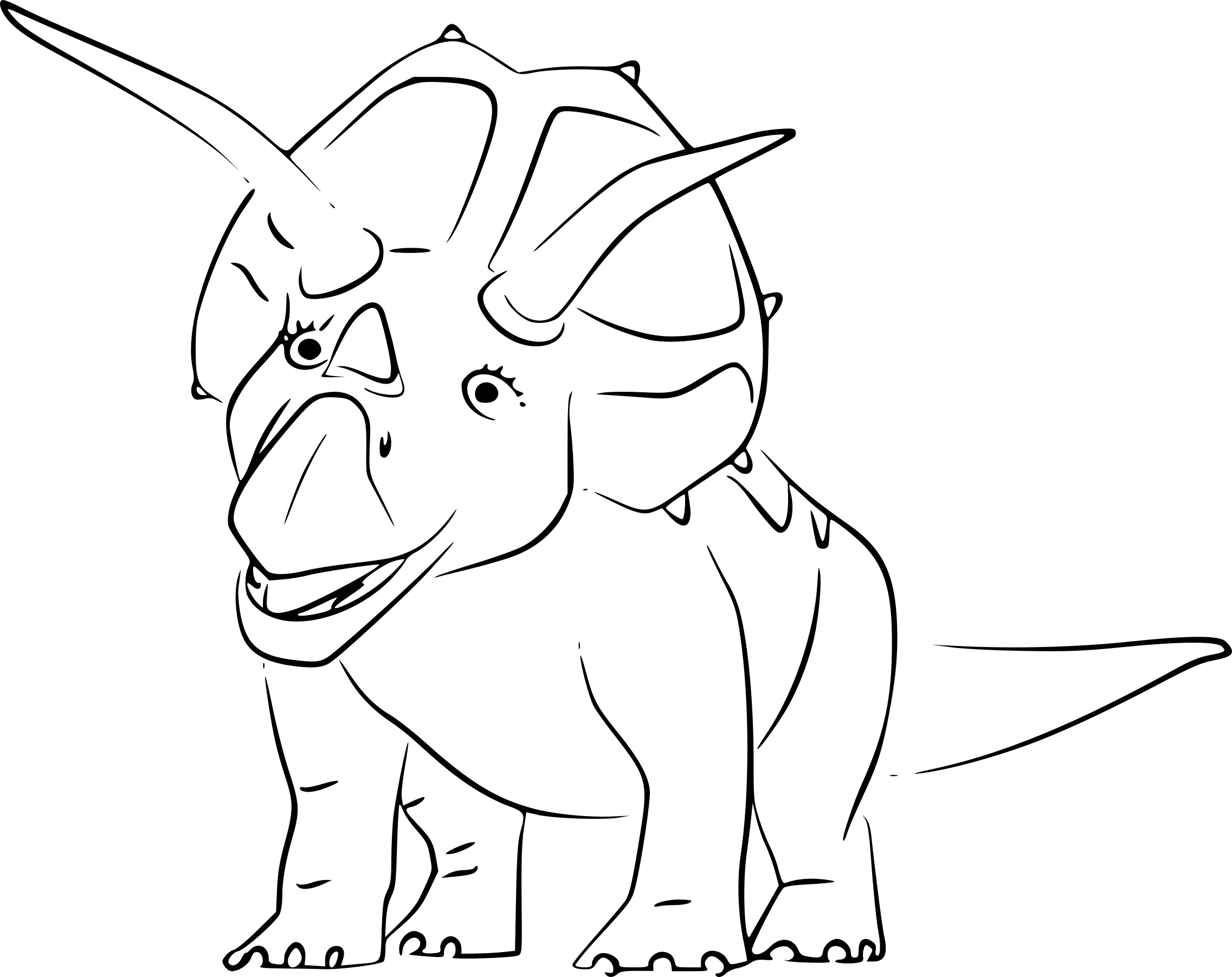 Coloriage Triceratops Dinosaure À Imprimer dedans Coloriages A Imprimer