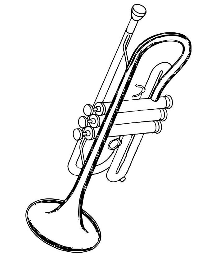Coloriage Trompette À Imprimer Gratuitement avec Coloriage Instrument De Musique