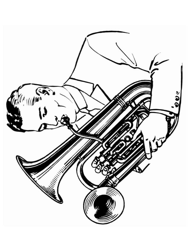 Coloriage Tuba À Imprimer Gratuitement concernant Coloriage Instrument De Musique