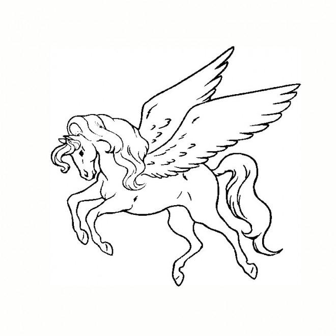 Coloriage Uage Licorne Dessin Gratuit À Imprimer à Coloriage Licorne En Ligne