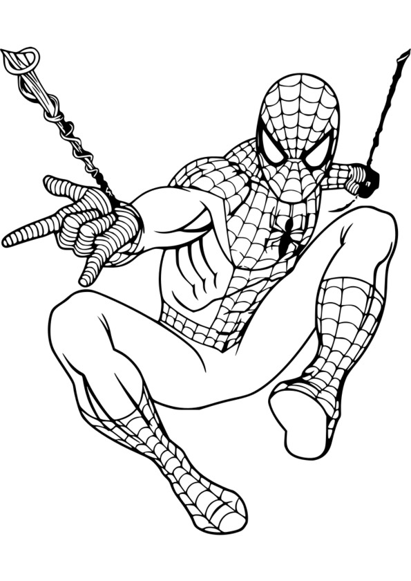 Coloriage Ultimate Spider Man intérieur Coloriage De Spiderman