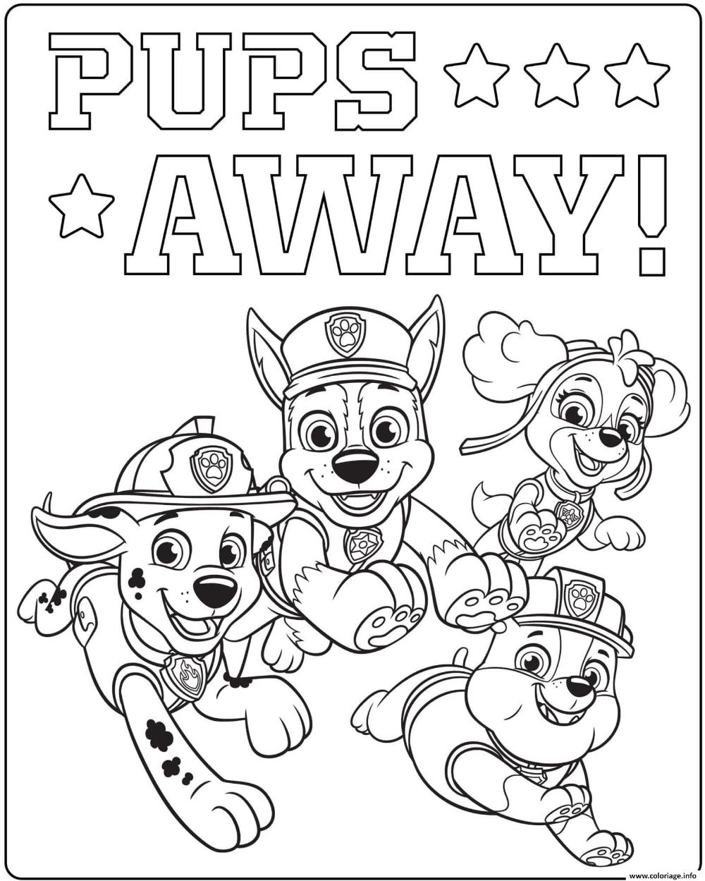 Coloriage Ultime Pat Patrouille Pups Away À Imprimer (Avec à Coloriage En Ligne Pat Patrouille