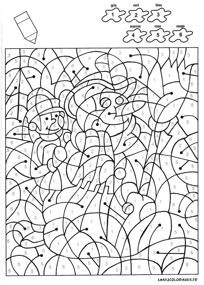 Coloriage Un Beau Bonhomme De Neige Avec 6 Couleurs tout Coloriage Avec Chiffre