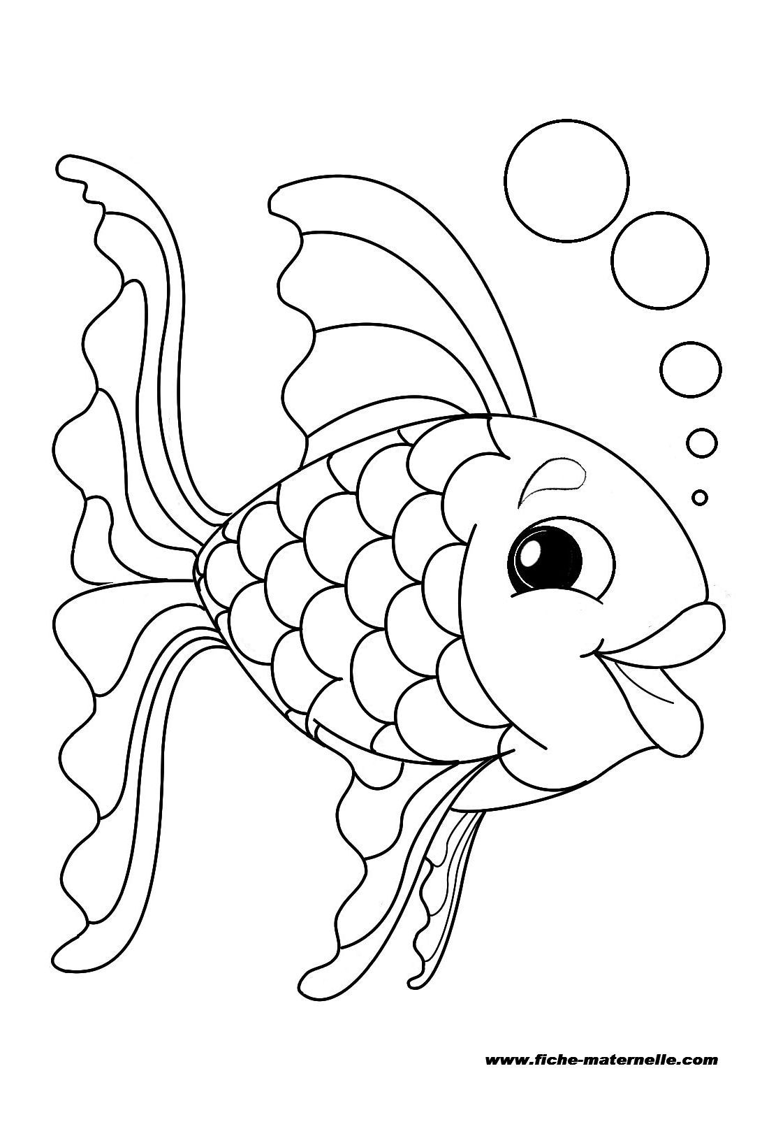 Coloriage : Un Poisson | Coloriage Poisson, Coloriage à Poisson D Avril Coloriage A Imprimer