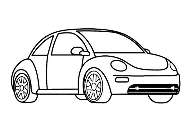 Coloriage Une Voiture Volkswagen Dessin Gratuit À Imprimer avec Dessins Voitures À Imprimer