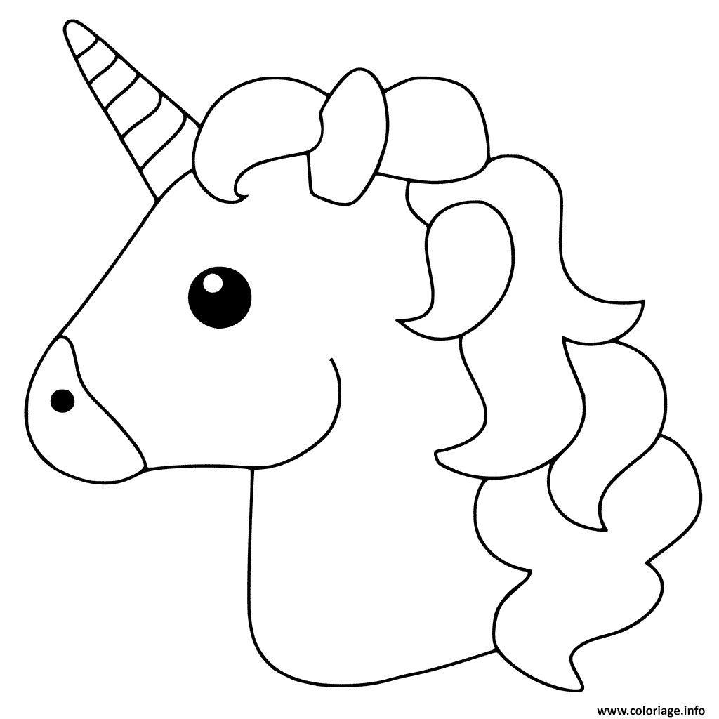 Coloriage Unicorn Emoji Dessin Imprimer For Grandkids concernant Coloriage 3 Ans À Imprimer Gratuit Pdf