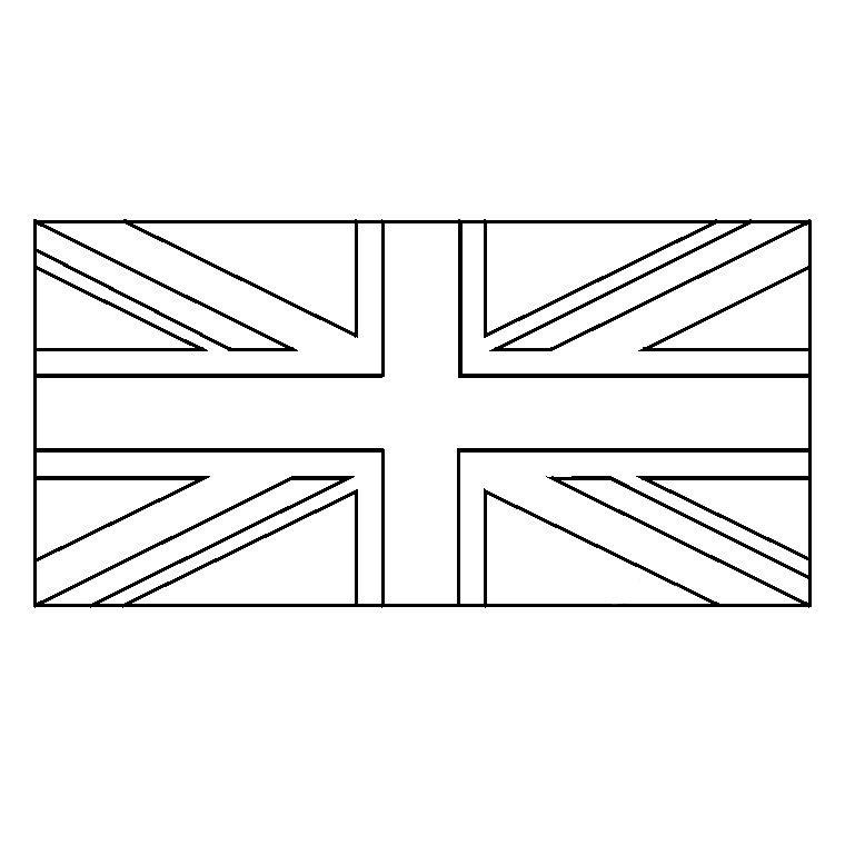 Coloriage Union Jack | Angleterre | Pinterest | Drapeau à Drapeau A Imprimer