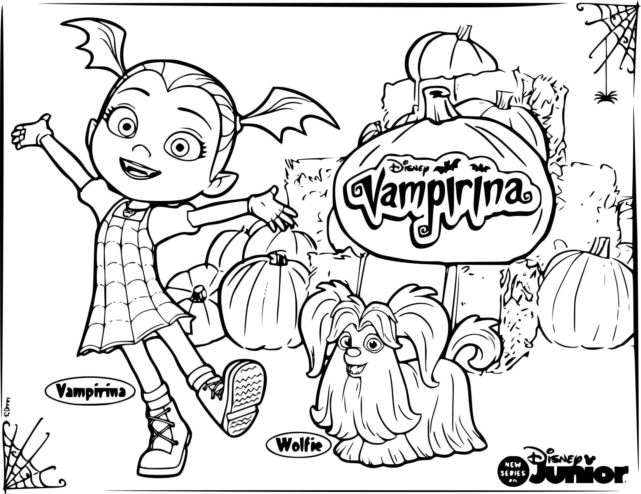 Coloriage Vampirina À Imprimer encequiconcerne Dessins Acolorier