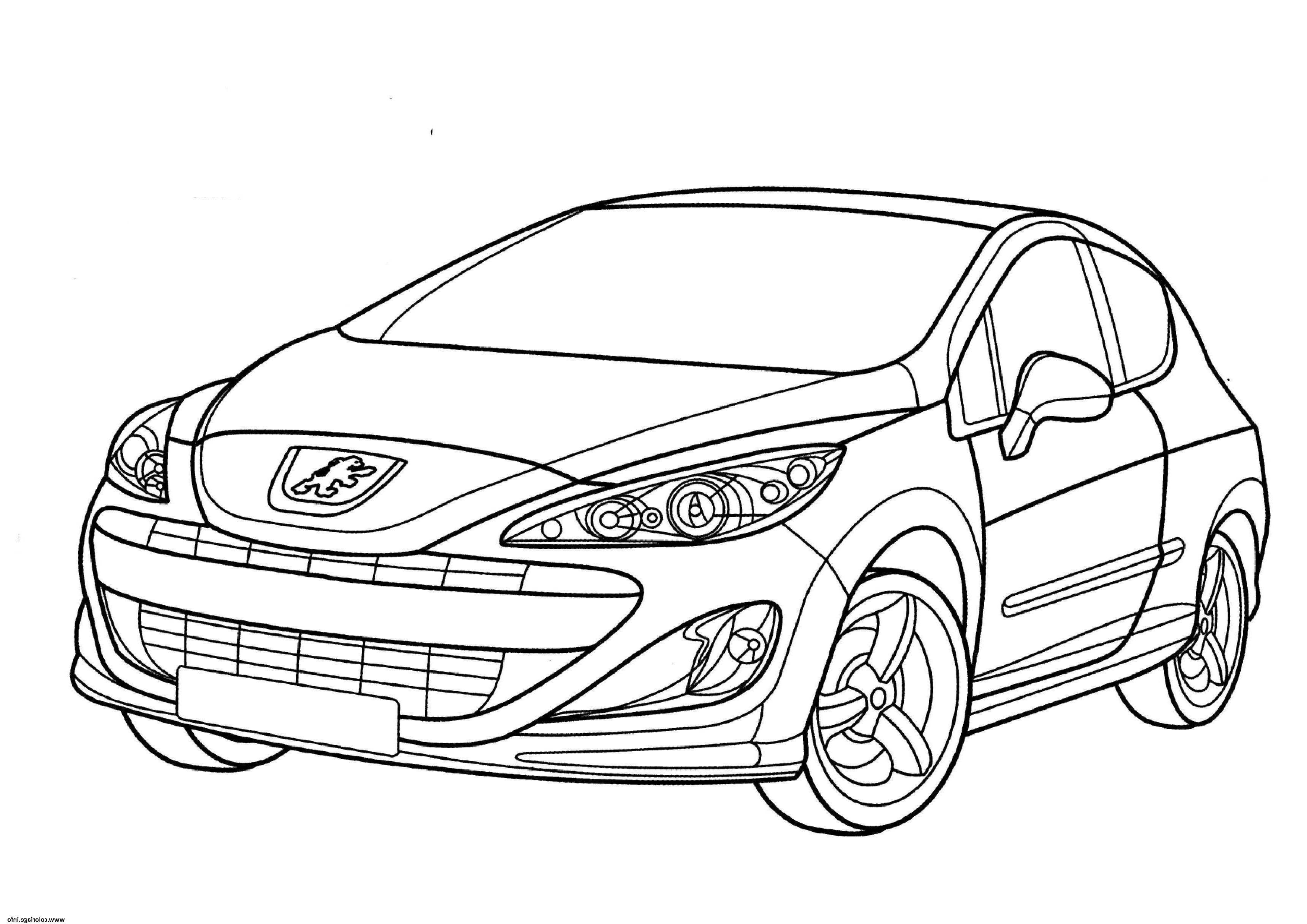 Coloriage Vehicule - Greatestcoloringbook dedans Voiture Int?Rieur Coloriage