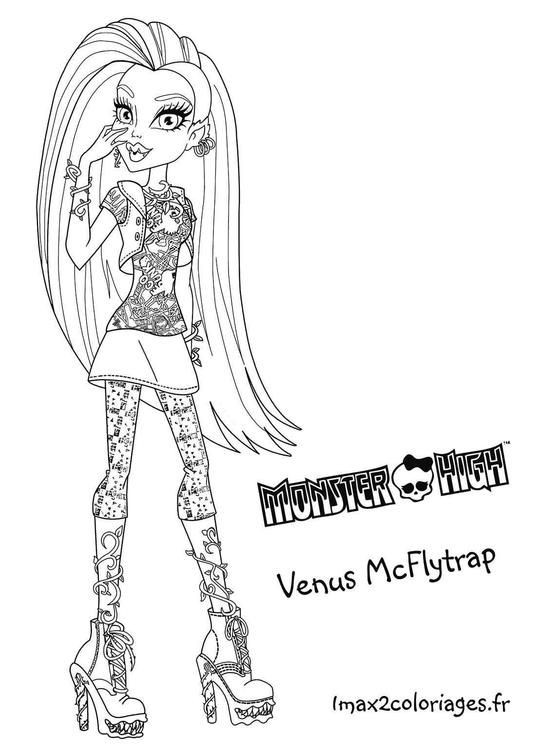 Coloriage Venus Mcflytrap Grande Image | Coloriage, Dessin intérieur Dessin A Colorier En Ligne De Monster High