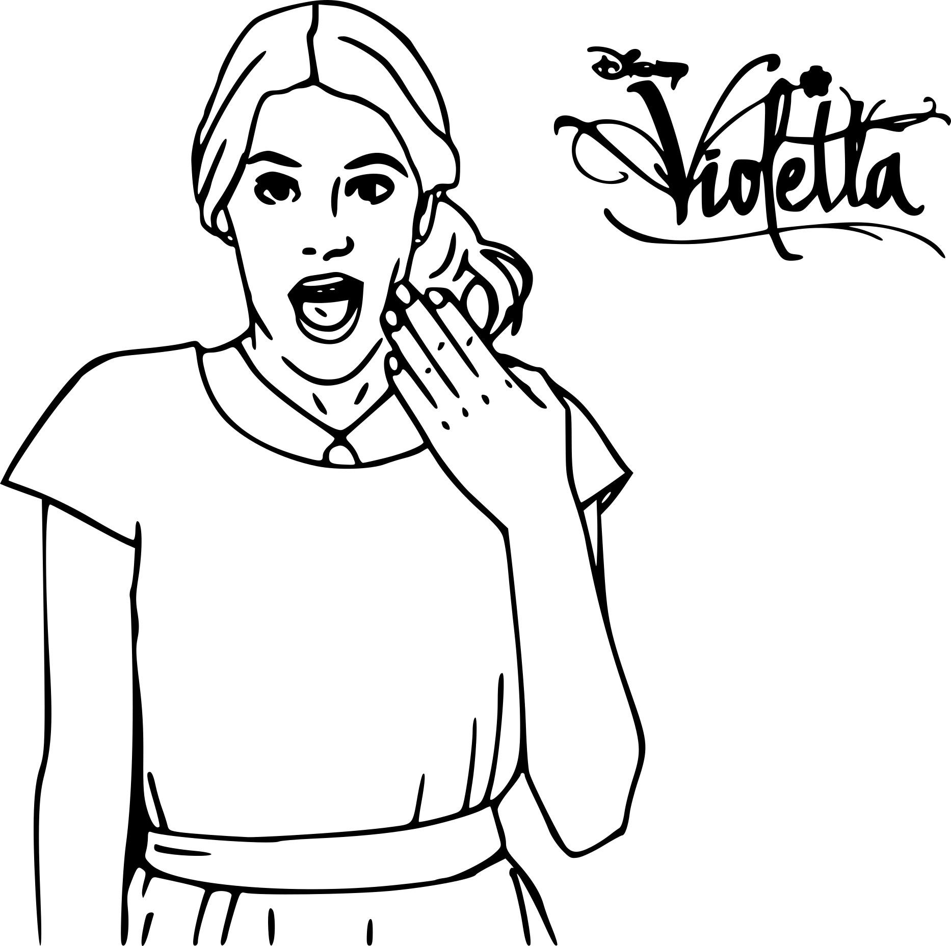 Coloriage Violetta Et Dessin À Imprimer encequiconcerne Des Dessins A Imprimer