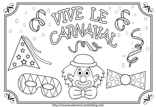 Coloriage Vive Le Carnaval Illustré Par Nounoudunord destiné Dessin Carnaval A Imprimer