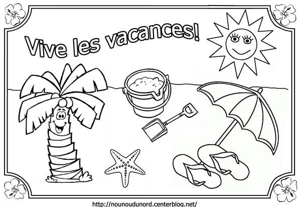 Coloriage Vive Les Vacances Dessin Gratuit À Imprimer dedans Coloriage Été A Imprimer