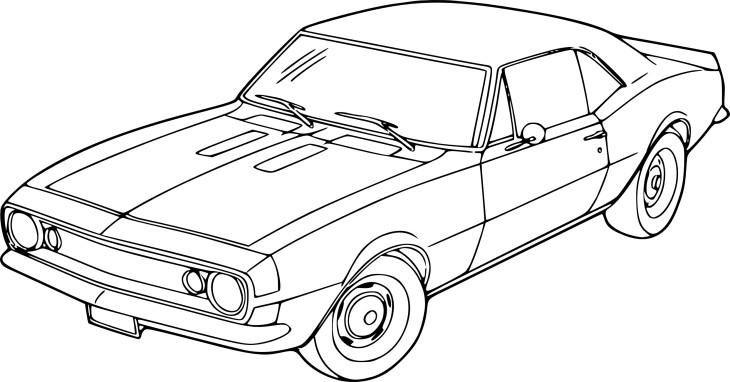 Coloriage Voiture Chevrolet À Imprimer pour Dessins Voitures À Imprimer