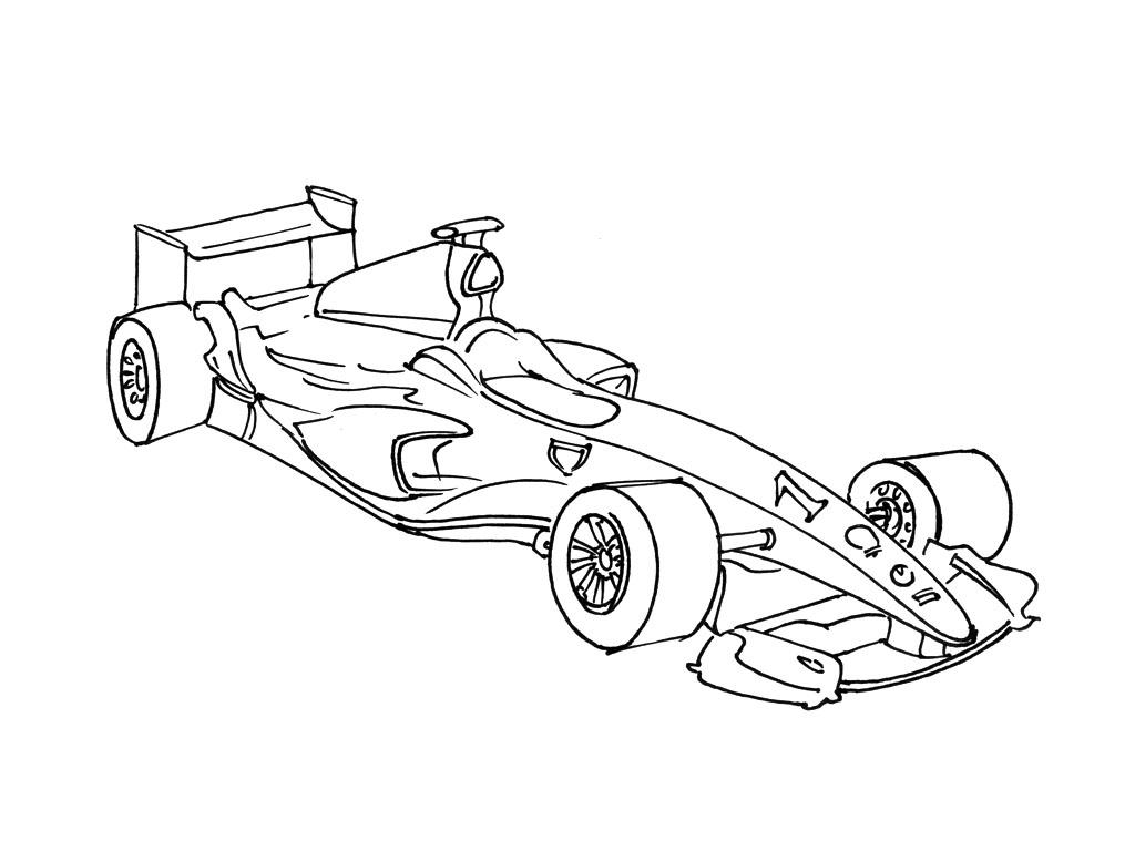 Coloriage Voiture De Course F1 | Imprimer Et Obtenir Une destiné Dessins Voitures À Imprimer