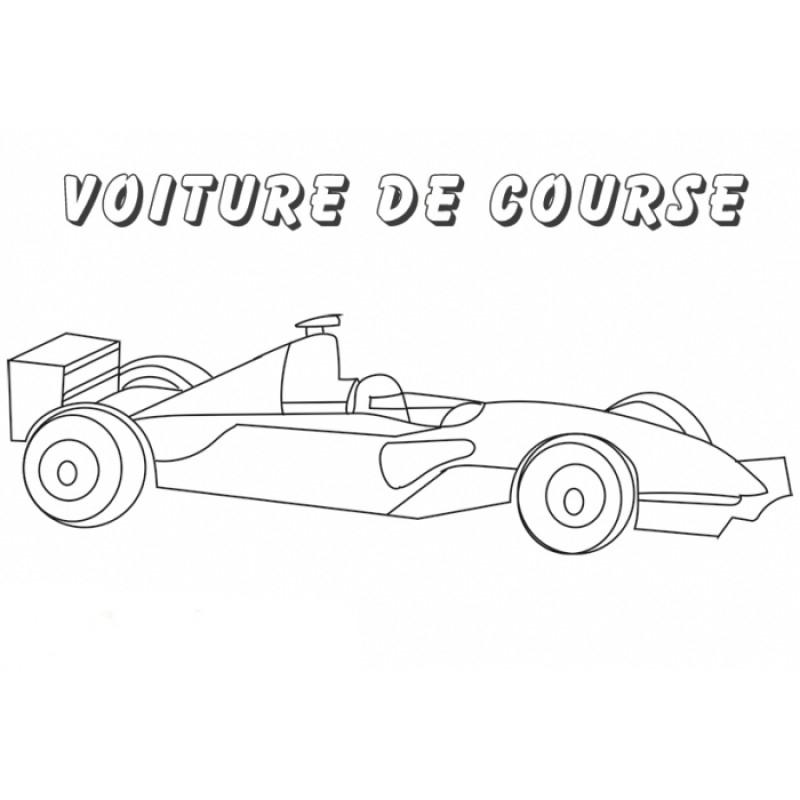 Coloriage Voiture De Course - Formule 1 Avec Pilote - Tête pour Voiture De Course À Colorier