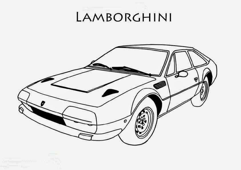 Coloriage Voiture Lamborghini Imprimer - Coloriage Voiture concernant Coloriage Voiture À Imprimer