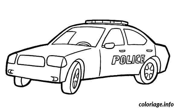 Coloriage Voiture Police Dessin À Imprimer | Coloriage pour Coloriage Voiture De Police