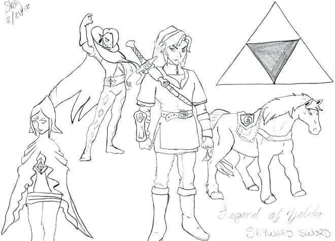 Coloriage Zelda Breath Of The Wild | Breath Of The Wild pour Coloriage Zelda Breath Of The Wild