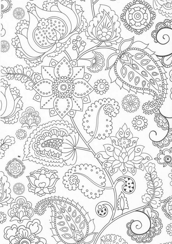"""Coloriage Zen """"Fleurs"""" [Jpg] – La Mie Végétale encequiconcerne Coloriage Zen Magazine"""